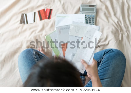 Borç konuşma balonu kelime beyaz finanse nakit Stok fotoğraf © kbuntu