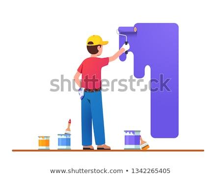 Artisan peintre peuvent main homme Photo stock © photography33