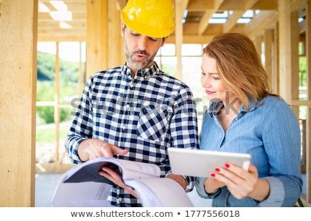 mérnök · építész · kettő · szakértelem · csapat · ipar - stock fotó © photography33