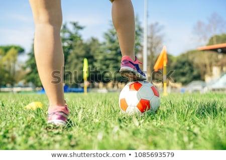 futball · lány · ül · futball · sport · haj - stock fotó © piedmontphoto