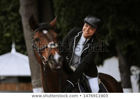Horsewoman Stock photo © zastavkin