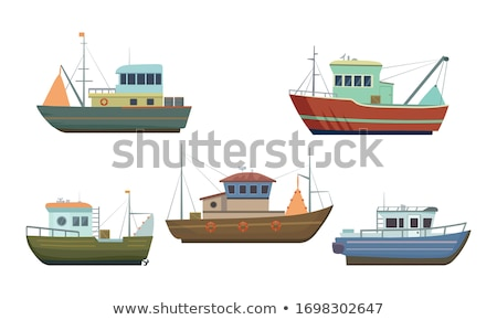 detail of a fishing boat stock photo © elinamanninen