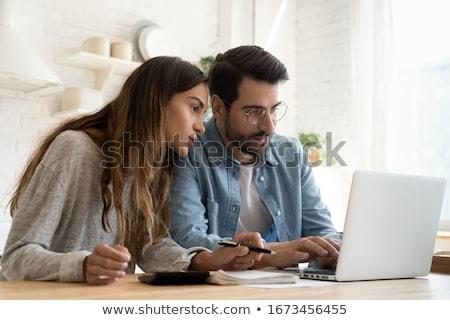 Hypothèque demande papier main Finance contrat Photo stock © dacasdo