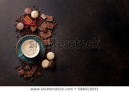 cup coffee espresso and macaroon Stock photo © Discovod