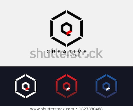q&a sign in blue hexagon Stock photo © marinini