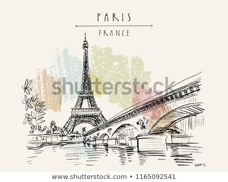 style · rétro · Paris · France · espace · texte · image - photo stock © ilolab