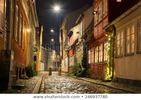 Old street of residential buildings. Stock photo © maxmitzu