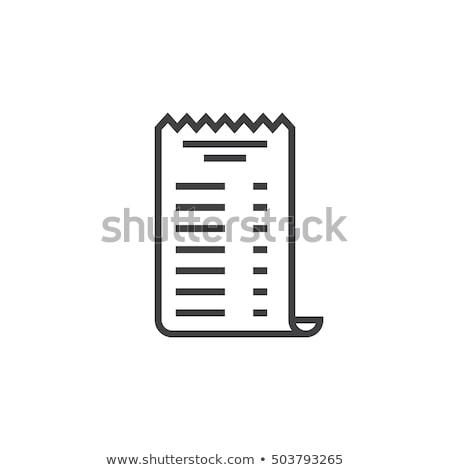 アイコン 領収書 実例 白地 ストックフォト © zzve