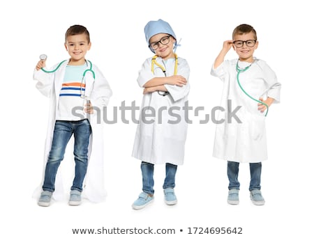 Little cacasian boy wearing doctor coat stock photo © get4net
