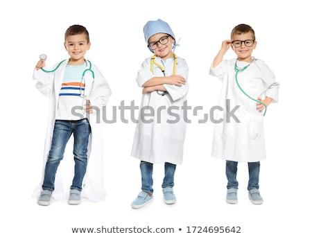 Photo stock: Peu · garçon · médecin · manteau · stéthoscope