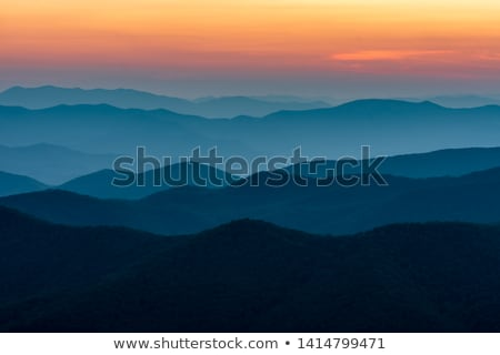 Beautiful view of the popular Blue Ridge  Mountain Stock photo © meinzahn