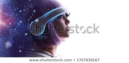 Genç kadın mavi saç fantezi seksi moda Stok fotoğraf © Fernando_Cortes