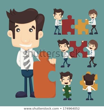 üzletember csapatmunka eps10 vektor formátum üzlet Stock fotó © ratch0013