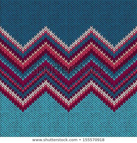 handgemaakt · gebreid · sjaal · groene · wol · winter - stockfoto © elmiko