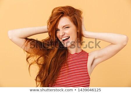 młodych · kobieta · krzyczeć · biały · oczy - zdjęcia stock © nejron