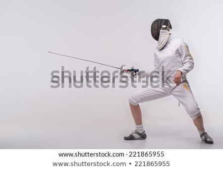 female fencer laughing stock photo © bmonteny