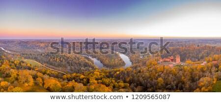 beautiful autumn landscape sigulda latvia stock photo © amok