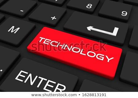banda · larga · canale · rosso · tastiera · pulsante - foto d'archivio © tashatuvango
