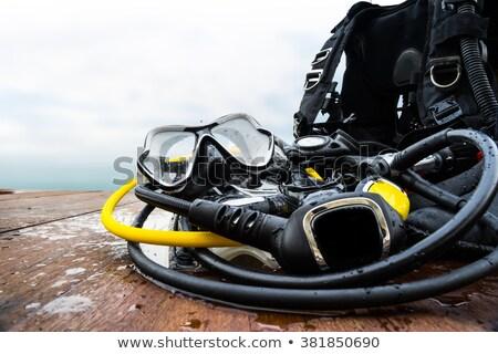 дайвинг оборудование пляж рок морем Сток-фото © limpido