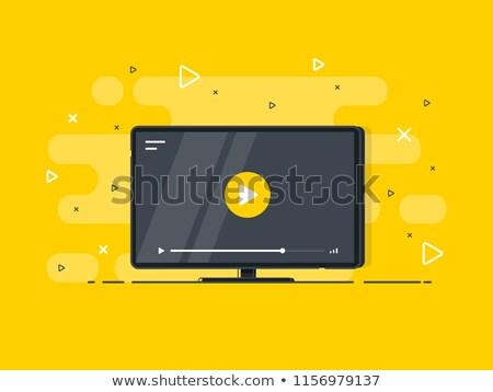 videókamera · citromsárga · vektor · ikon · terv · digitális - stock fotó © rizwanali3d