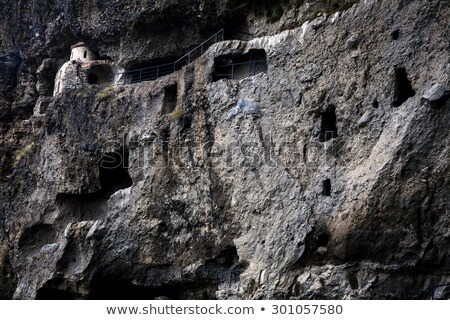 Vanis Qvabebi cave monastery in Georgia Stock photo © Taigi