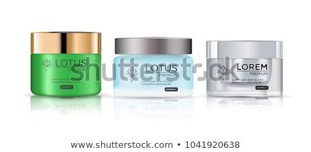 Cosmético recipiente creme pó gel vidro Foto stock © netkov1