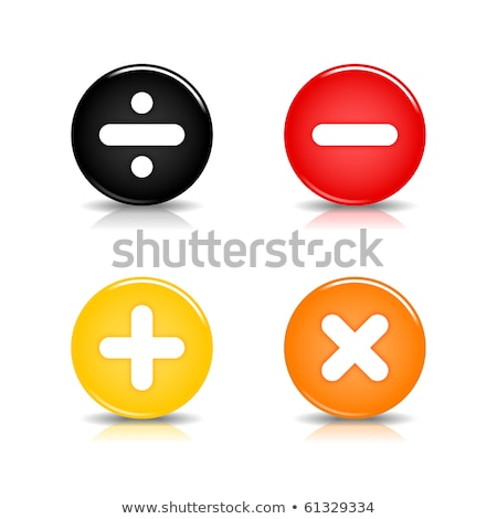 Multiply Sign Yellow Vector Icon Button Stock photo © rizwanali3d