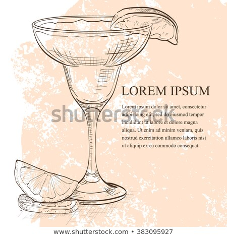 Yellow Bird is a cocktail scetch Stock photo © netkov1