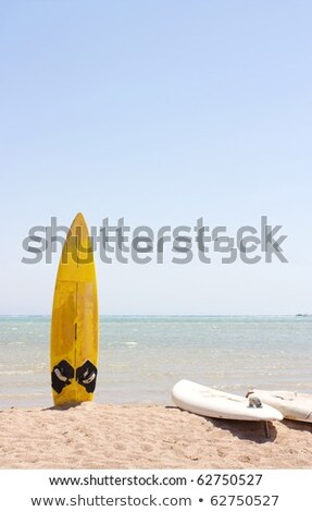 Wind Surf Board Lying On The Beach Stock photo © tepic