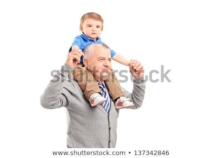 nino · aislado · blanco · dulce · pequeño · bebé - foto stock © zurijeta