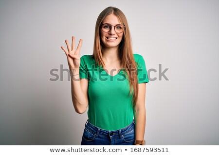 fiatal · vörös · hajú · nő · nő · portré · boldog · derűs · nő - stock fotó © sapegina