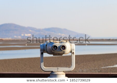 observation binoculars view of the island stock photo © oleksandro
