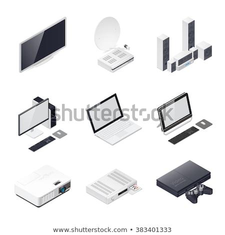 isometric monoblock computer stock photo © fresh_5265954