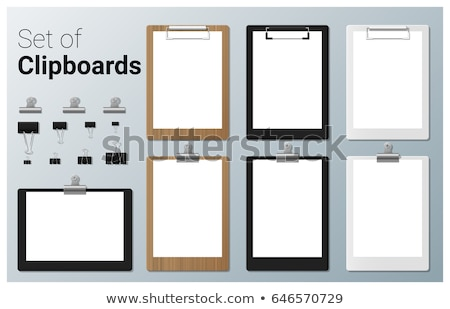 clipboard with paper stock photo © bigalbaloo