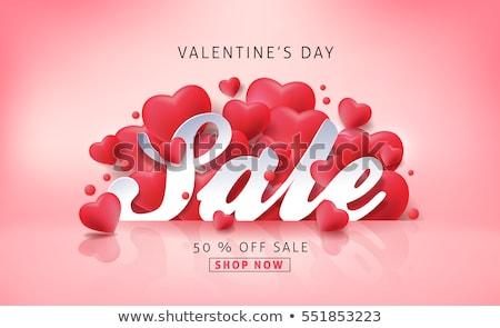 Harten verkoop creatieve valentijnsdag foto bloem Stockfoto © Fisher
