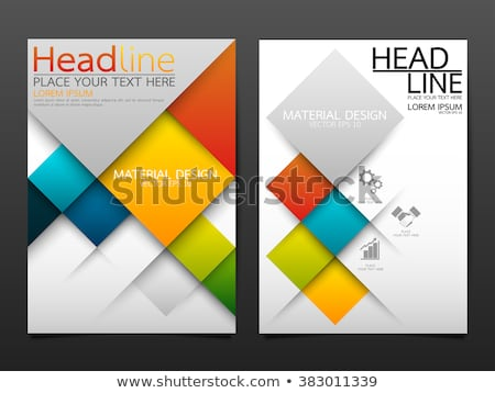 red and blue geometric brochure design template cover design ann Stock photo © SArts