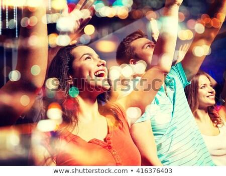 Kalabalık zevk müzik konser gece kulübü kadın Stok fotoğraf © wavebreak_media