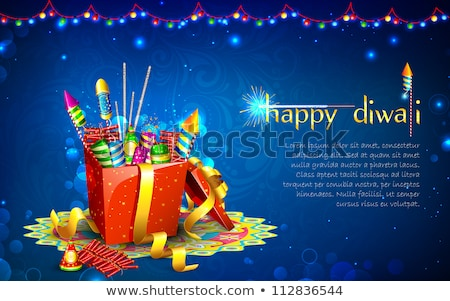 diwali crackers background with shiny sparkles stock photo © sarts