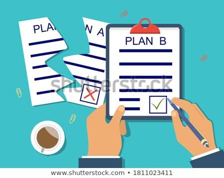 Clipboard ecommerce solução negócio mesa de escritório Foto stock © tashatuvango