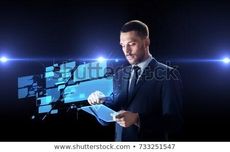 Сток-фото: бизнесмен · рабочих · прозрачный · деловые · люди · реальность