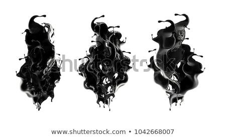 fekete · tinta · festék · olaj · csobbanás · izolált - stock fotó © sidmay