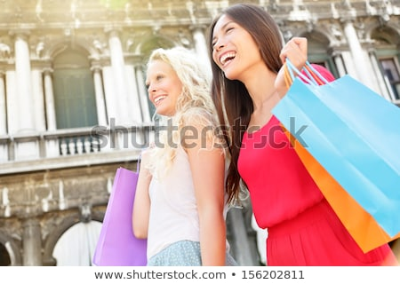 Woman carrying shopping bags. Venice Stock photo © IS2