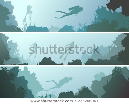 Uomo diving acqua grotta illustrazione sport Foto d'archivio © bluering