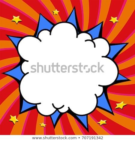 Bumm képregény robbanás vektor terv háttér Stock fotó © Designer_things