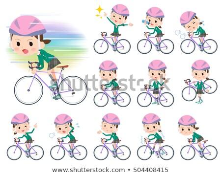 緑 ブレザー 自転車 セット ストックフォト © toyotoyo