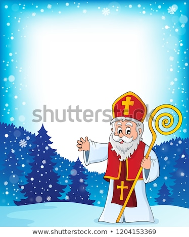 Saint Nicholas topic frame 1 Stock photo © clairev