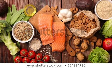 queso · uvas · aislado · blanco · alimentos - foto stock © m-studio