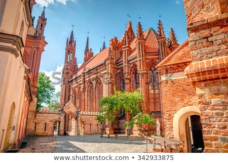 velho · vermelho · tijolo · católico · igreja - foto stock © vapi