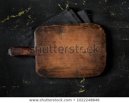 Vieux planche à découper sombre haut vue alimentaire Photo stock © homydesign