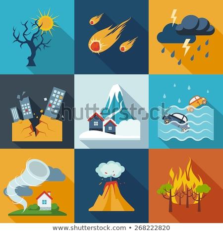 Sturm Symbol weiß Himmel Wasser Zeichen Stock foto © smoki